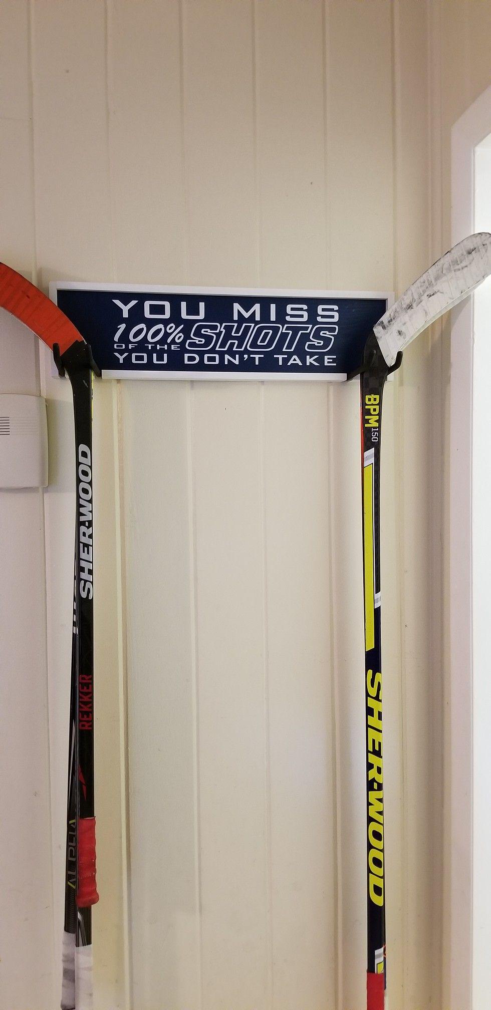 Diy Hockey Stick Storage Rack Hockey Stick Storage Hockey Stick Sport Hockey