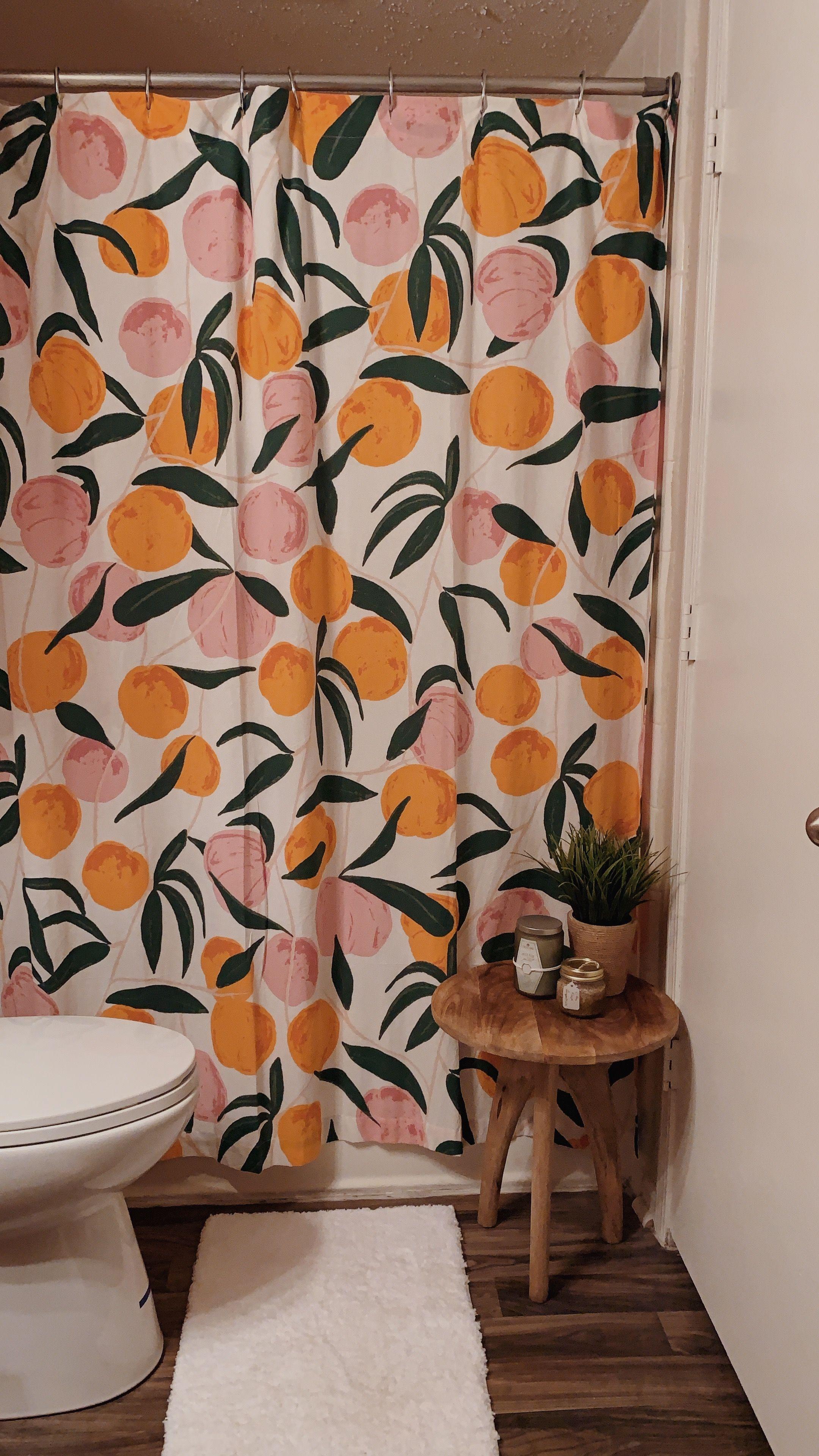 Peach Shower Curtain Diy Bathroom Decor Apartment Decor