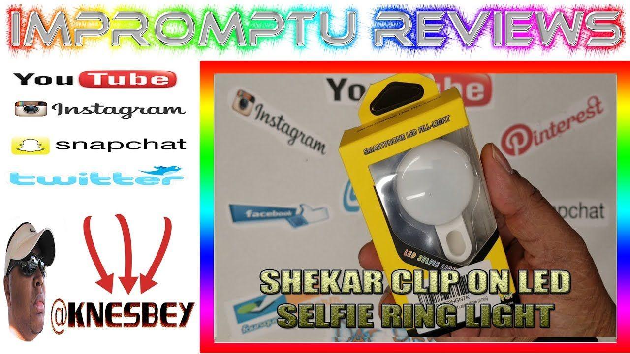 SHEKAR CLIP ON LED SELFIE RING LIGHT Selfie ring light