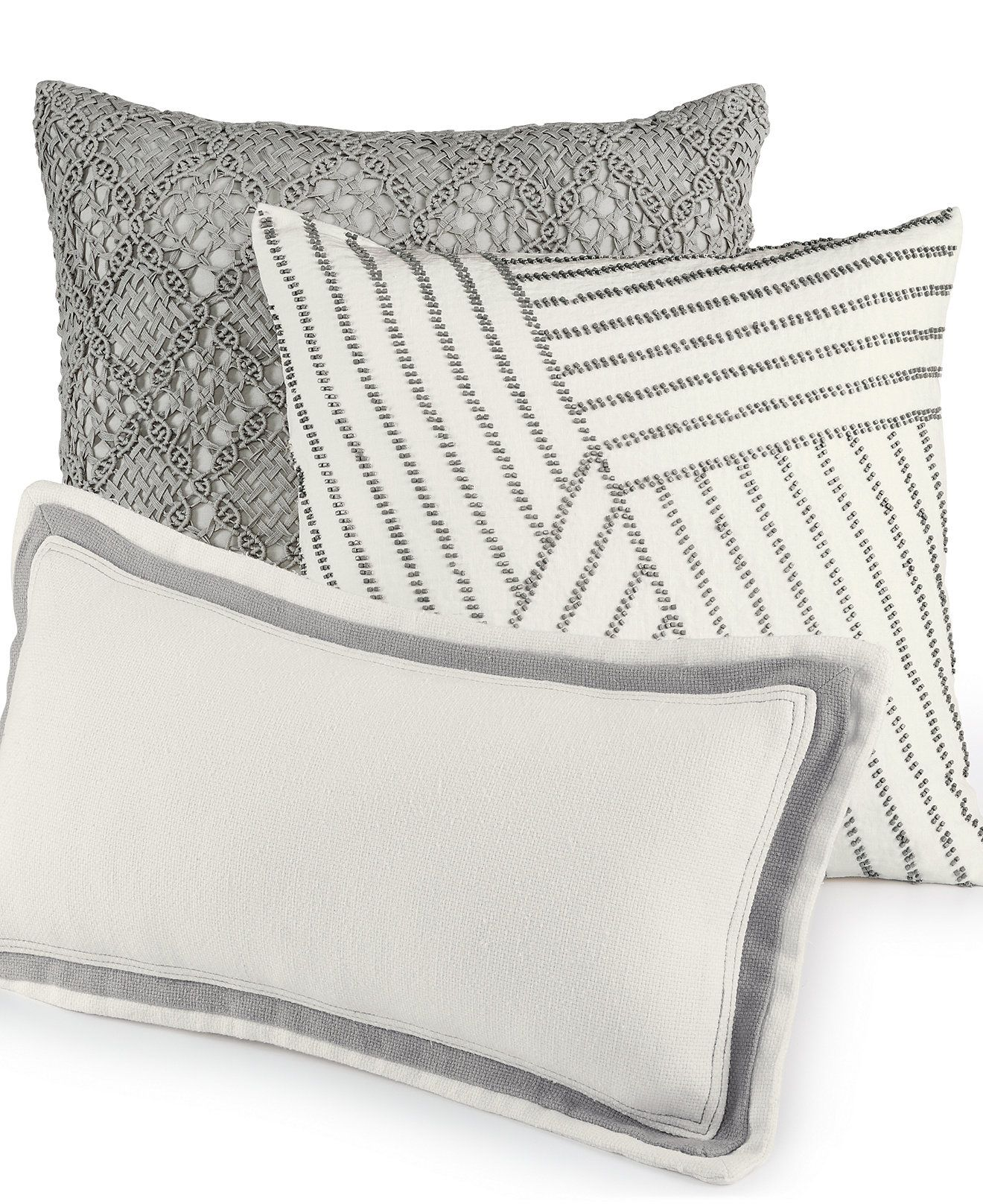 Hotel Collection Linen Fog Decorative Pillow @ Macy\'s - $70+? I can ...