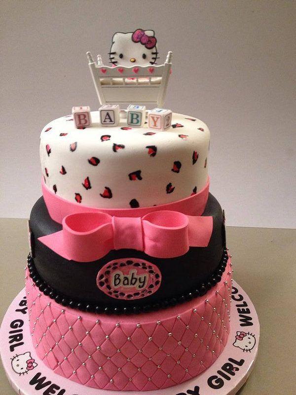 Hello Kitty Baby Shower Cake : hello, kitty, shower, Hello, Kitty, Shower, Shower,, Baby,