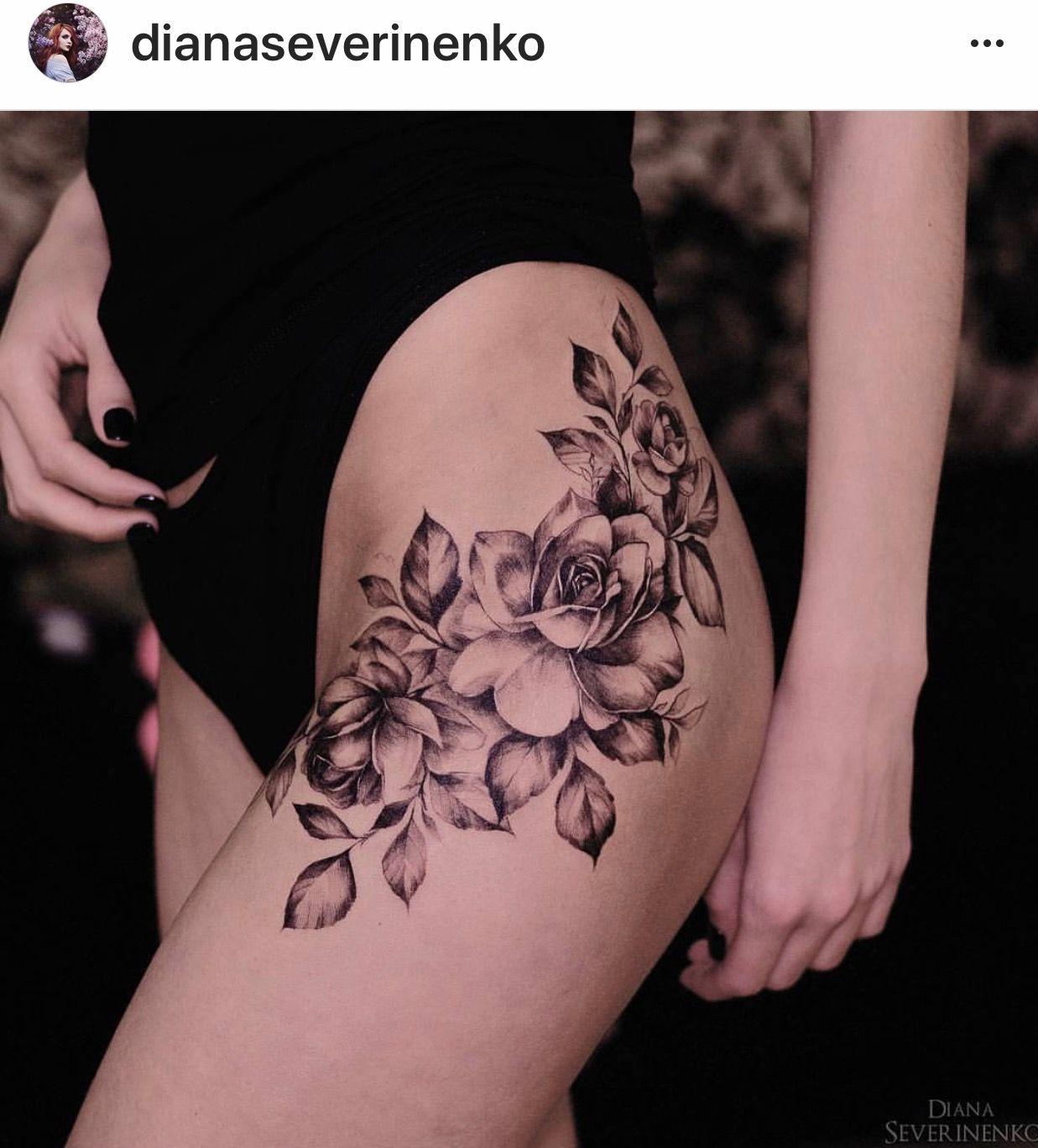 Pin By Iris Burch On Tattoo Art Tattoos Floral Hip Tattoo Hip Tattoo Designs