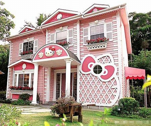 Color of the Month: Decorating with Pink. Dream HousesPink HousesNew HousesHello  Kitty ...