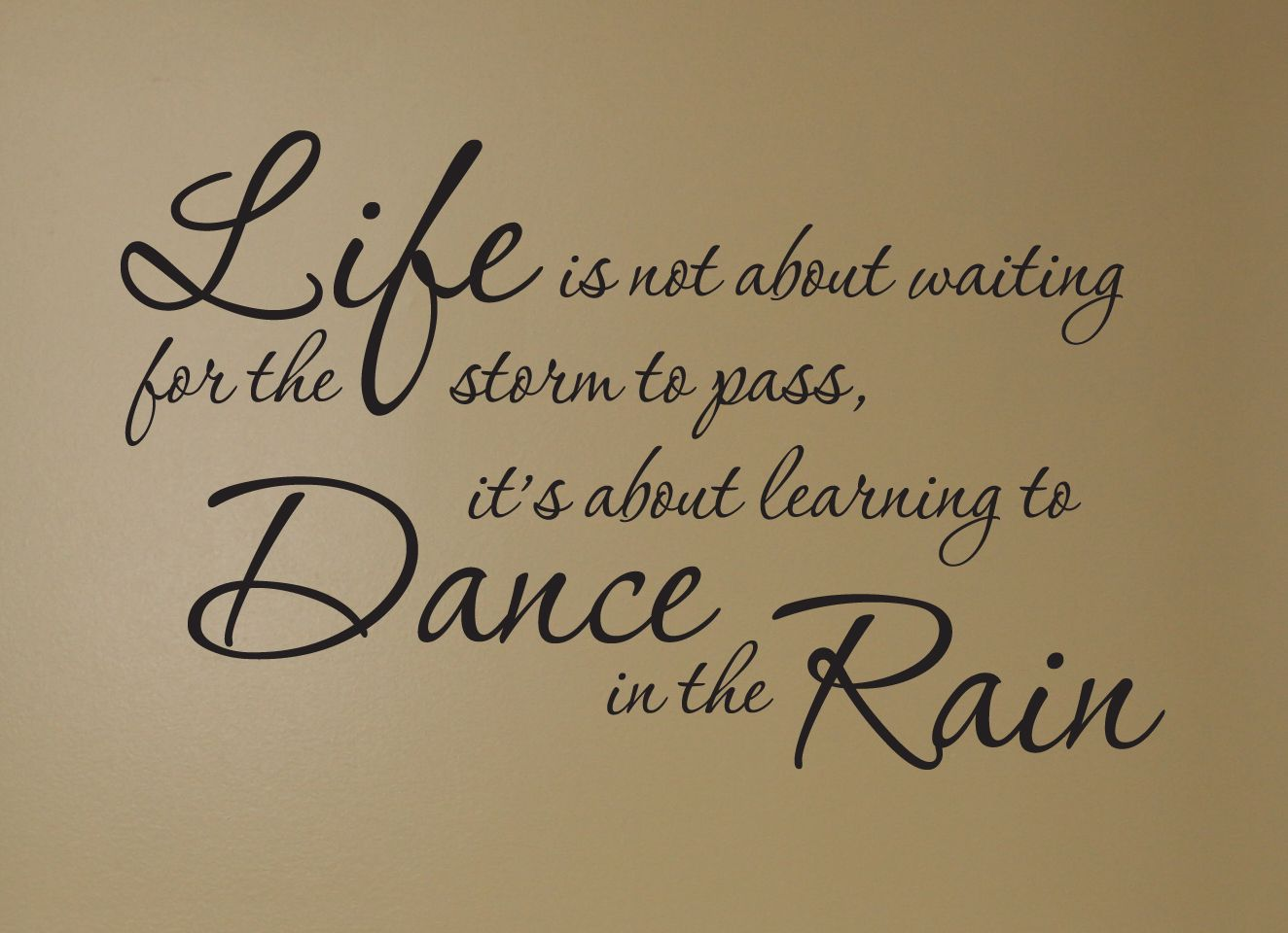 Life Dancing In The Rain Quote Life Is Not About Waiting For The Storm To Pass It's About