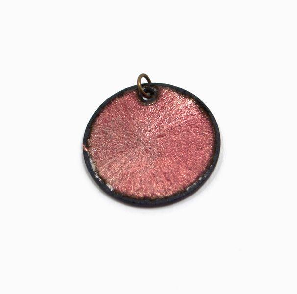Anhänger Kupfer Emaille rosa von Emaillekönigin- handgefertigter ...