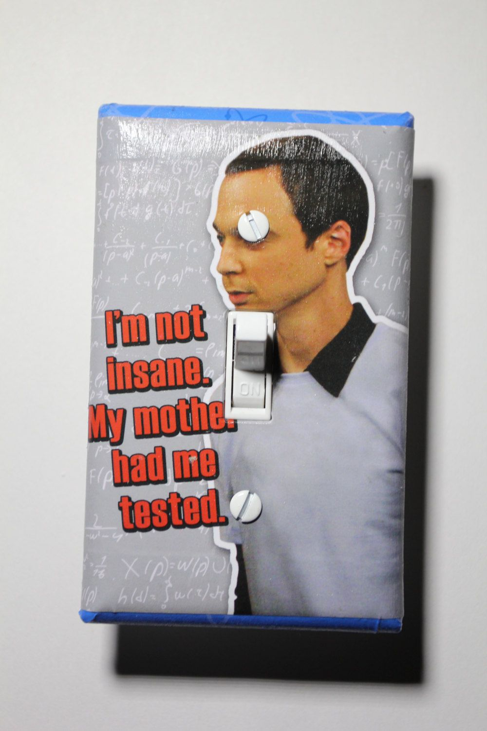 Big Bang Theory Dr Sheldon Cooper Light Switch Plate Cover home ...