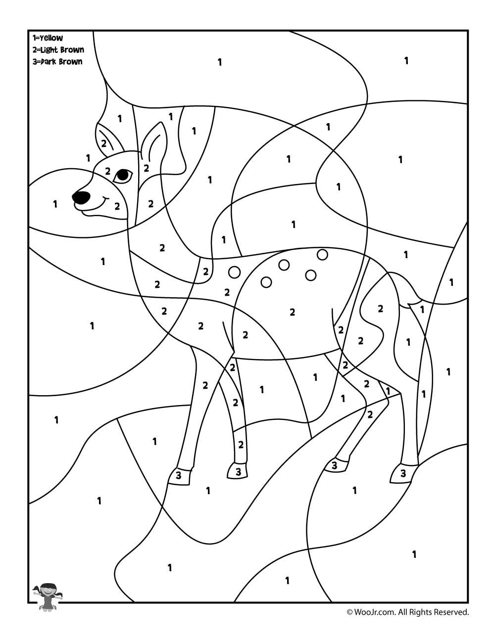 Preschool Color By Number Animal Coloring Pages Woo Jr Kids Activities Coloring Pages Animal Coloring Pages Preschool Colors