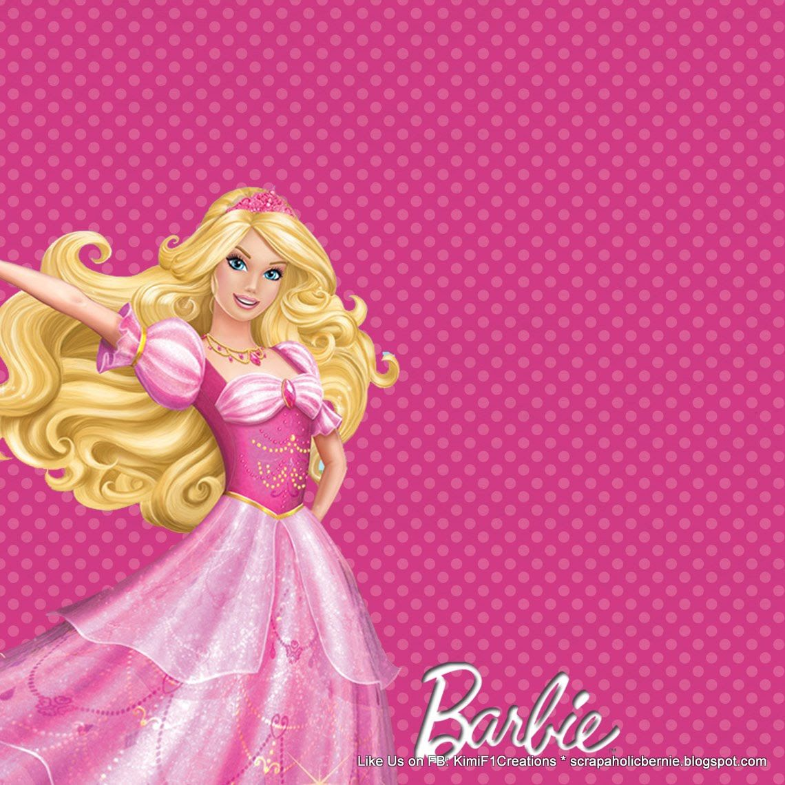 barbie birthday invitation card