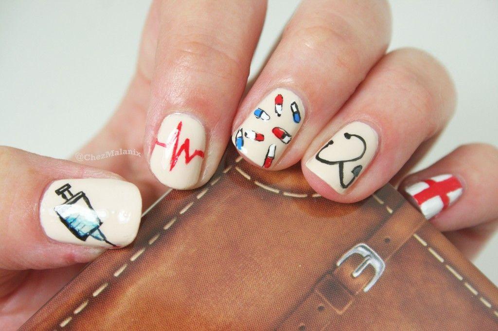 Nail art nurse | Nails | Pinterest | Diseños de uñas, Esmalte y Arte ...