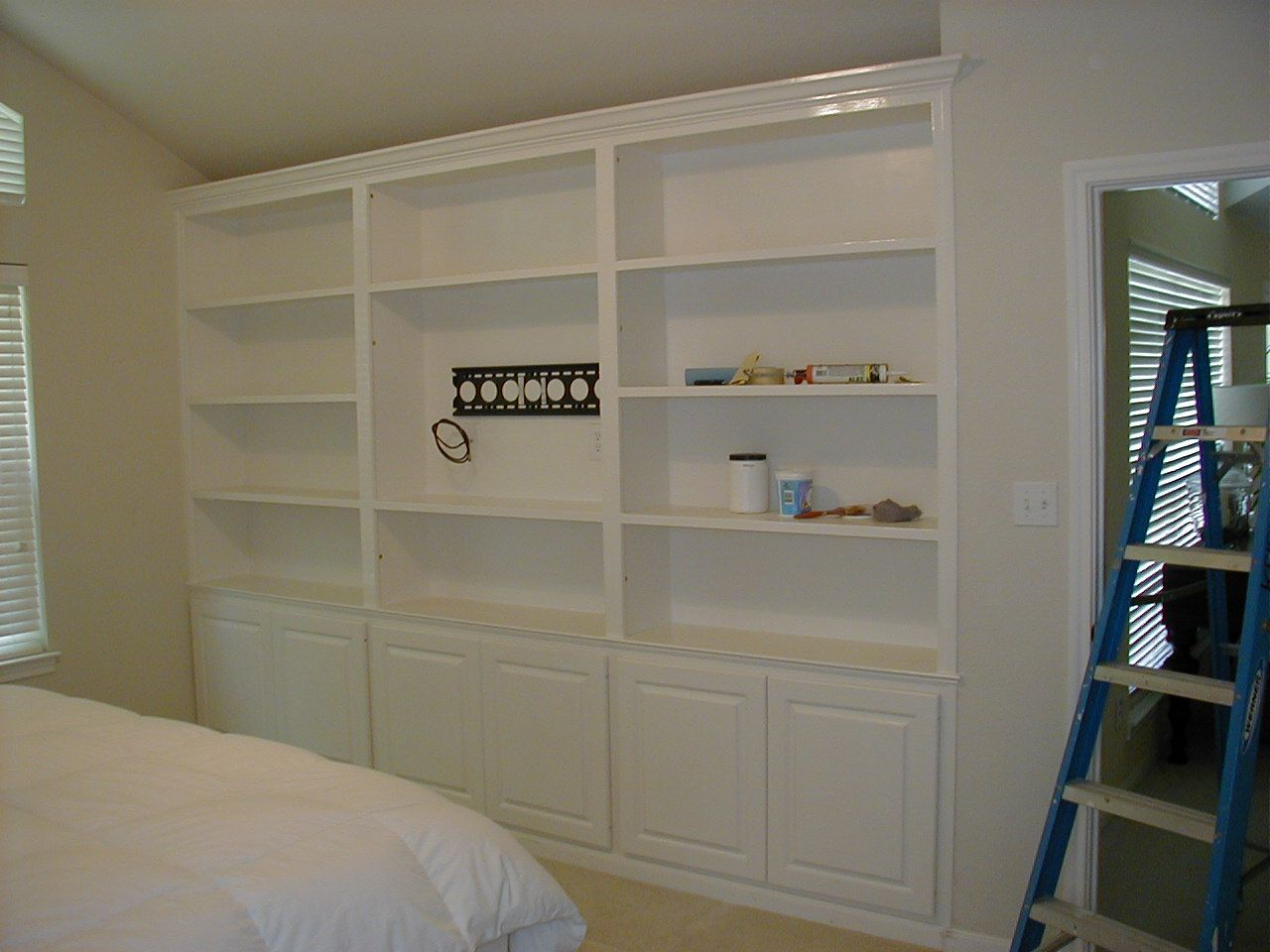 Images of wall mounted tv with built in cabinets wall with cabinets shelves and a place Small wall cabinets for bedroom