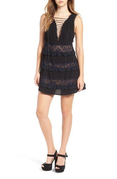 For Love & Lemons Lola Rose Lace-Up Minidress available at #Nordstrom