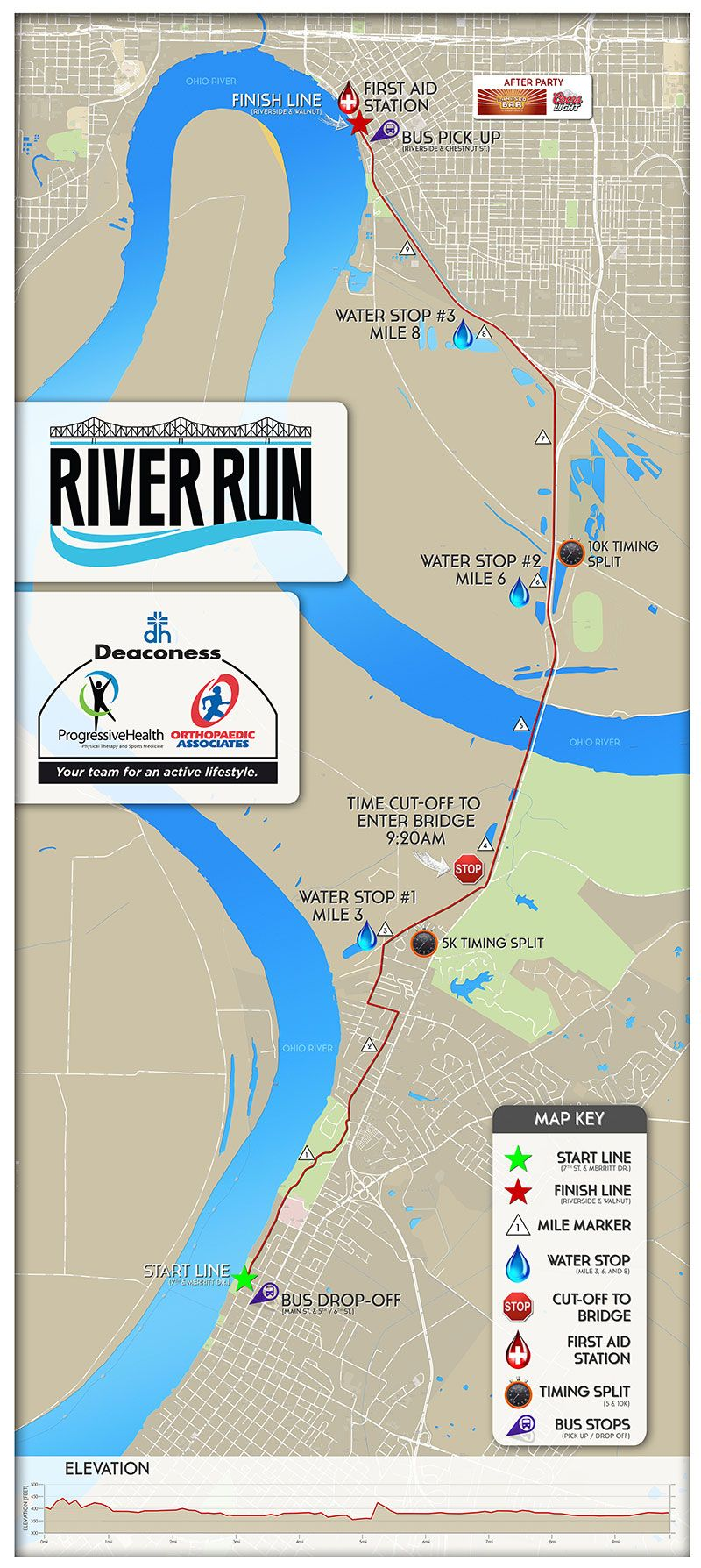 Race Route The River Run Evansville Indiana Evansville Ohio River