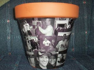 Rog and Chief Phillips: Photo Collage Flower Pot