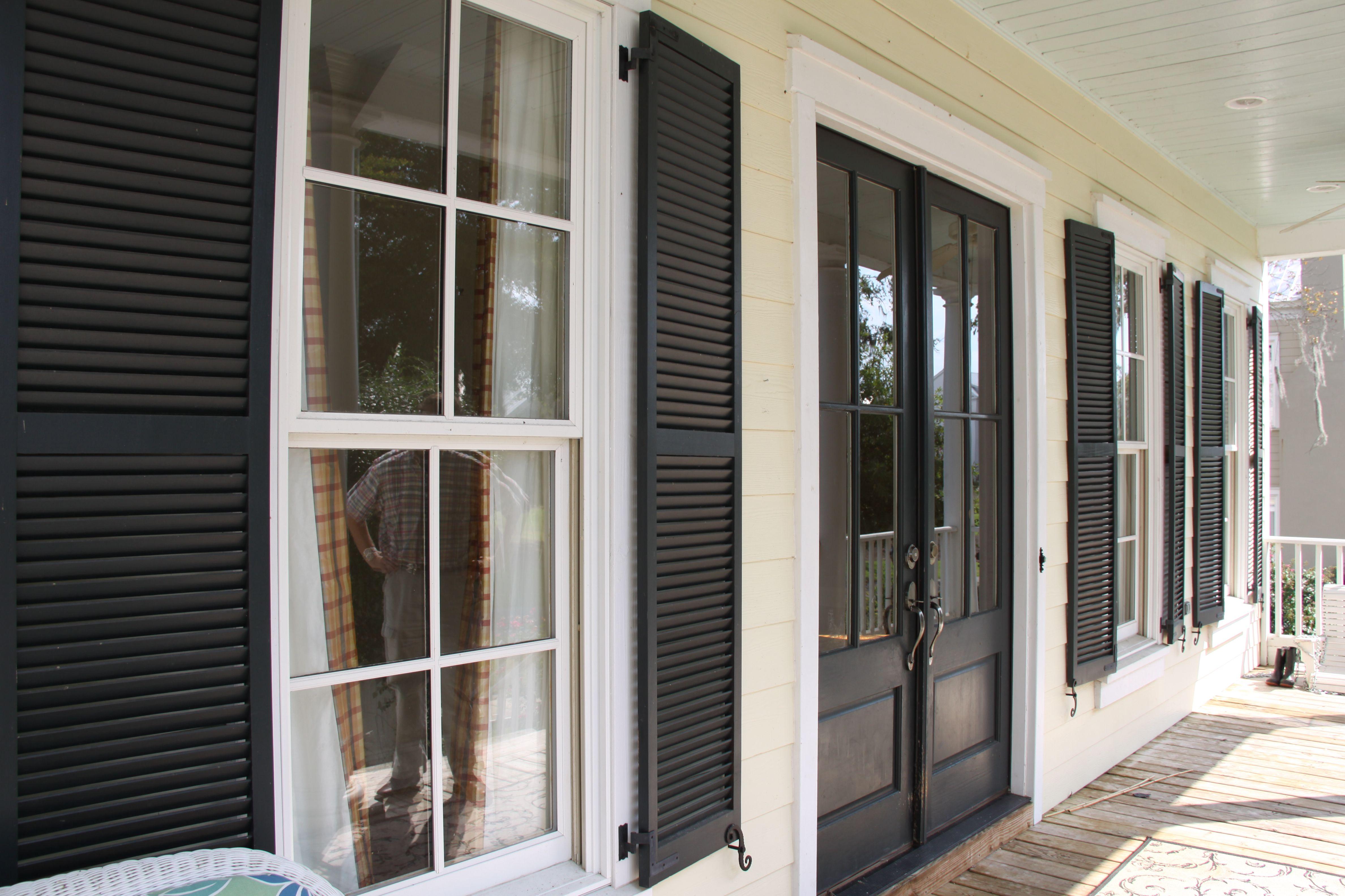 Exterior wood louver shutter cedar shutters exterior