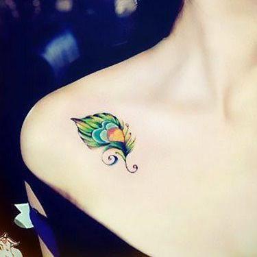 Beautiful Peacock Tattoo Design Easy Bird Tattoos Easy Tattoos Crayon