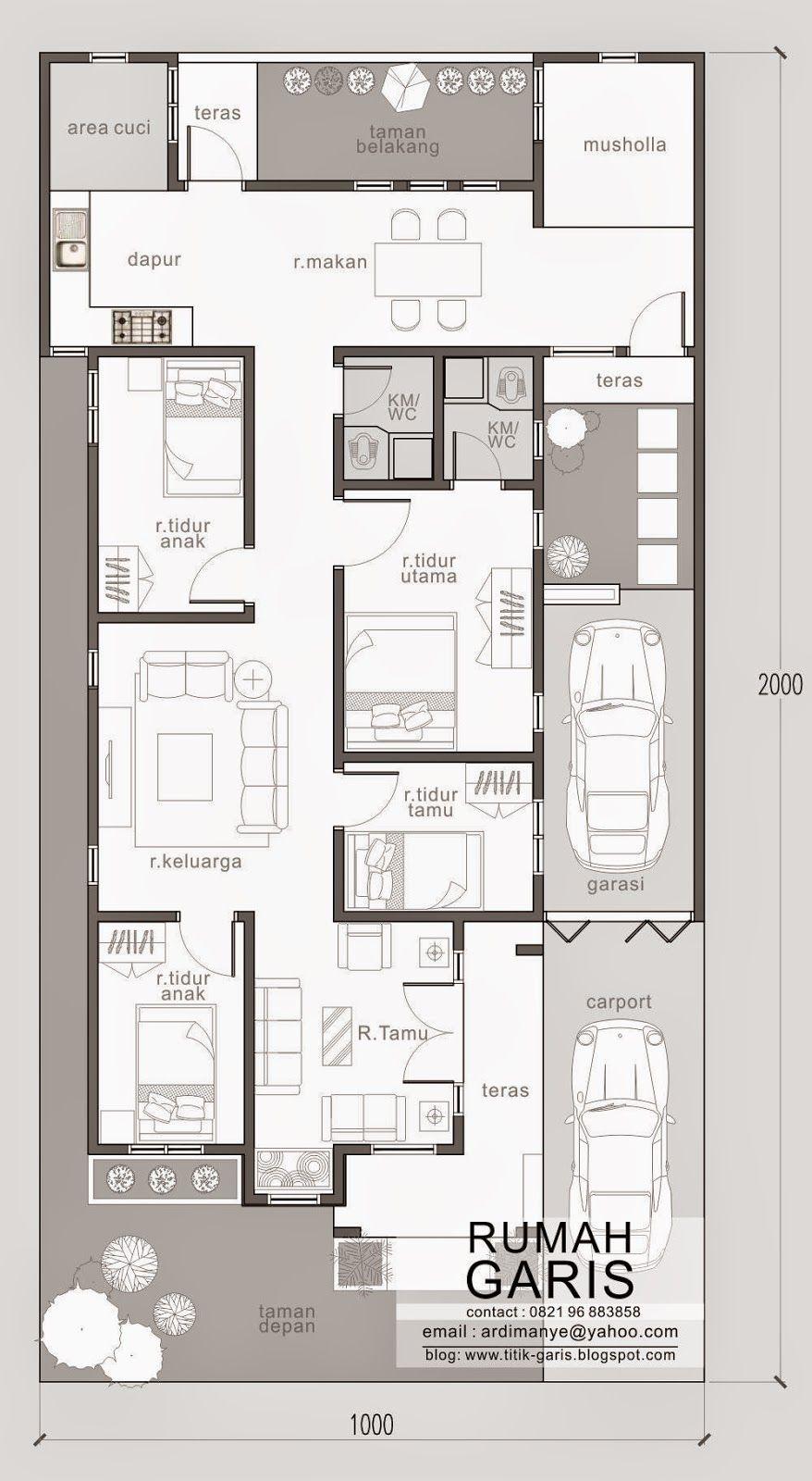 4 2 33 X 66 Footprint Including Garage Jasa Desain Rumah Online