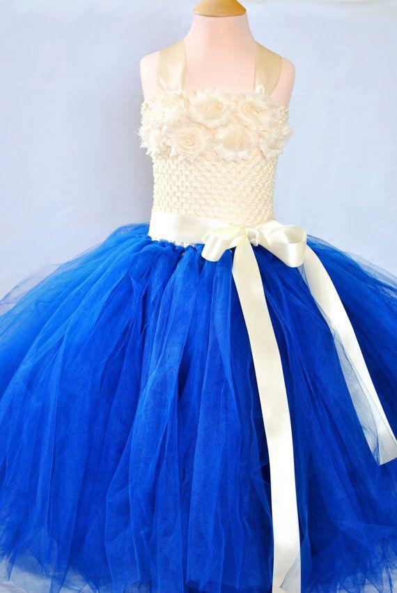 Flower Girl Tutu DressLong Tulle Dress For GirlsTutu by TutuShopUK