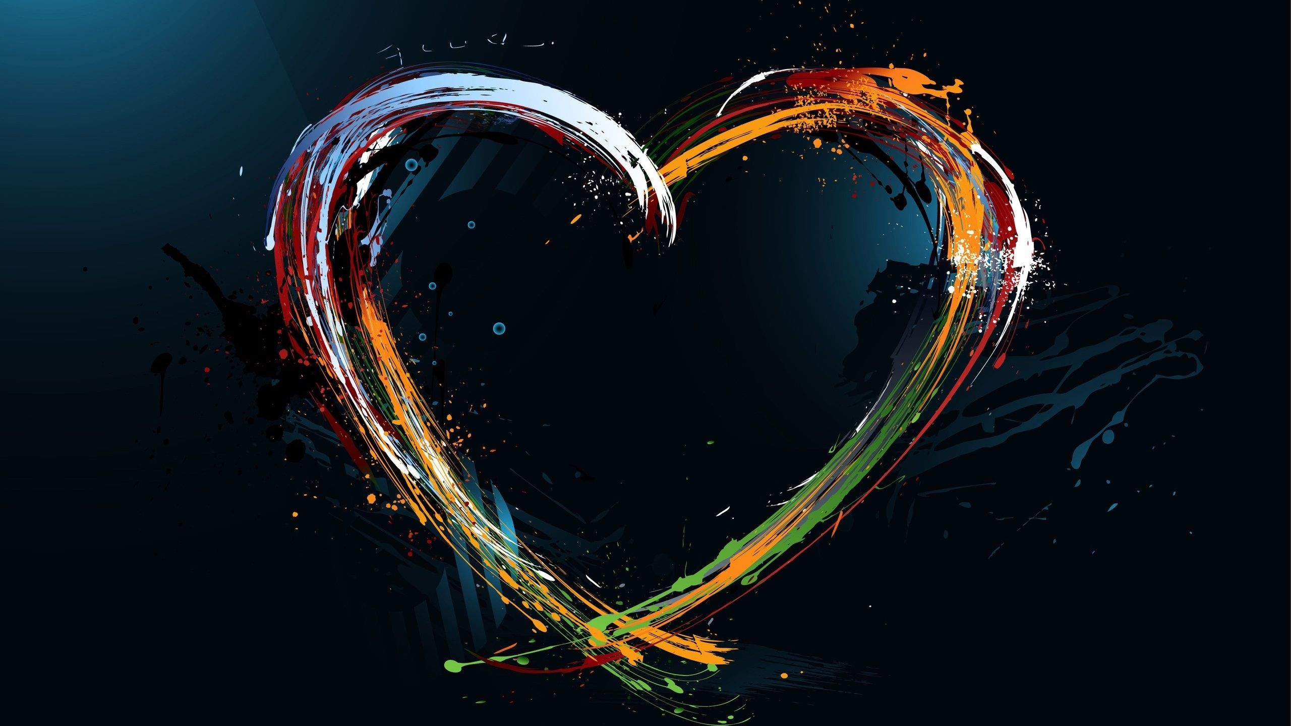 abstract love heart HD Images Free Download