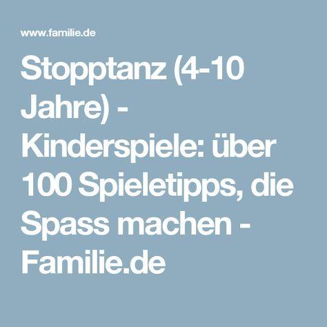Stopptanz 4 10 Jahre Kinder 3 Jahre Kindererziehung Und Kinder