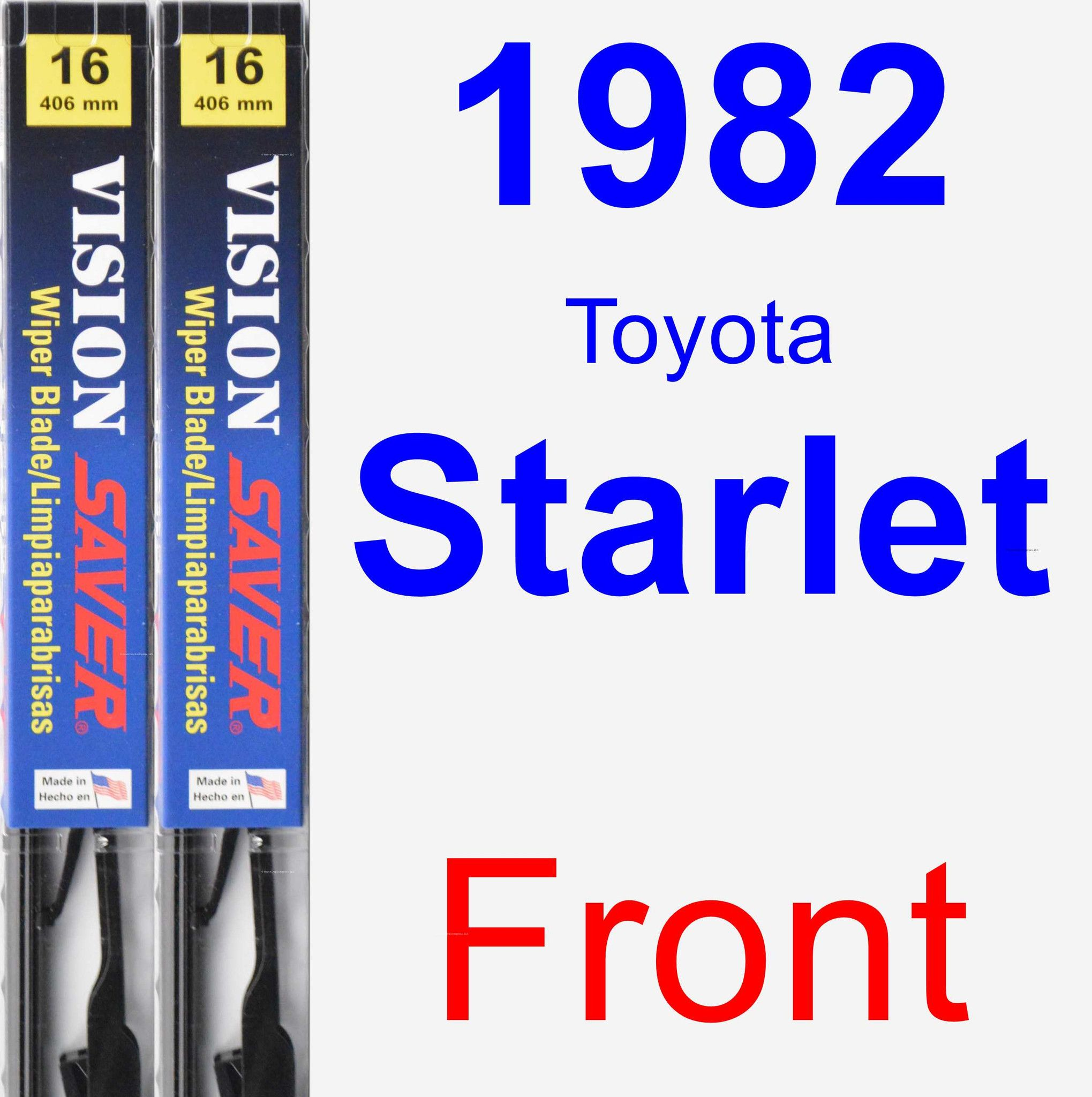 Front Wiper Blade Pack for 1982 Toyota Starlet - Vision Saver
