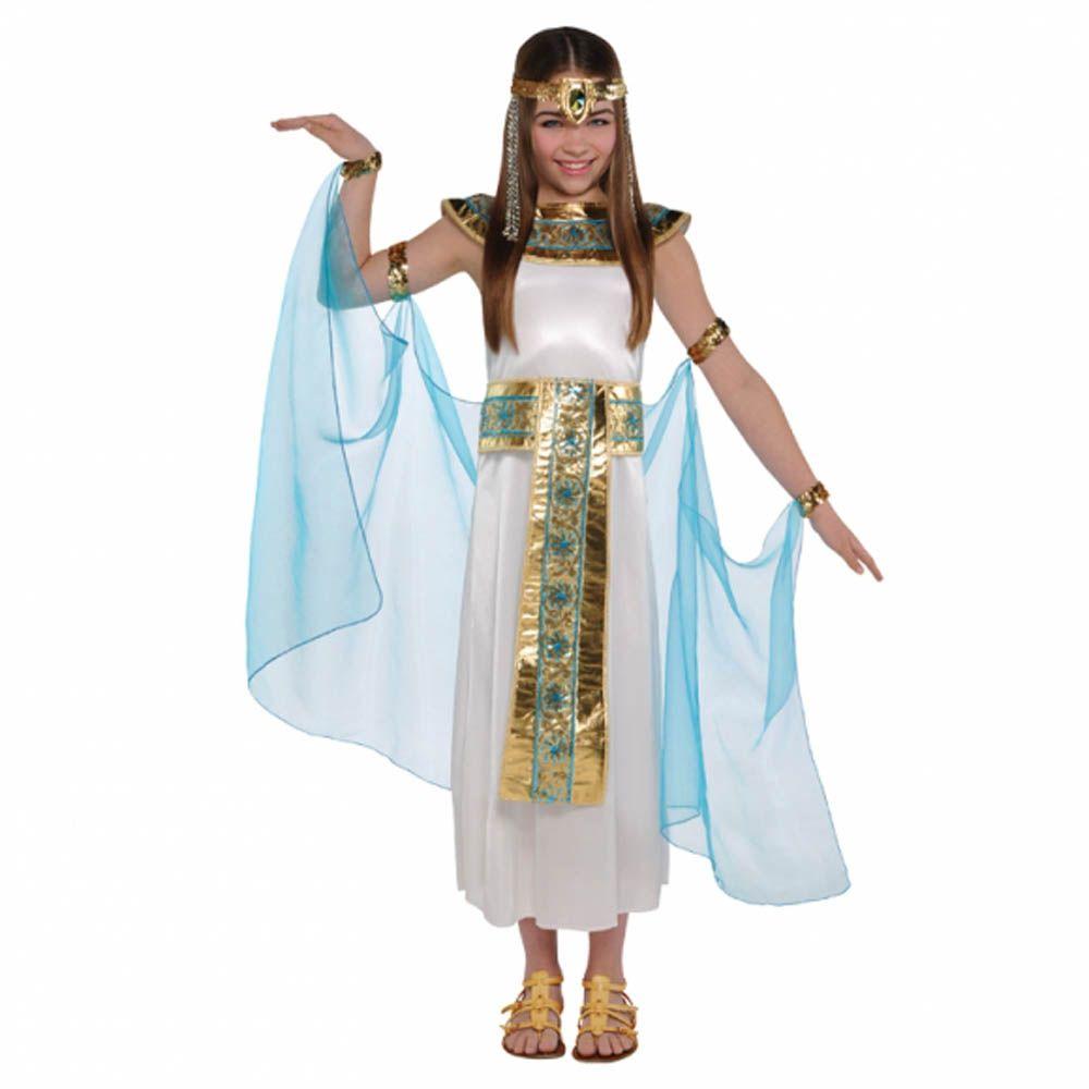 Egyptian Book Week Day Costume Boy Girl Cleopatra Queen King Pharaoh Fancy Dress