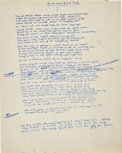 "Dylan thomas s original manuscript page of the poem ""in"