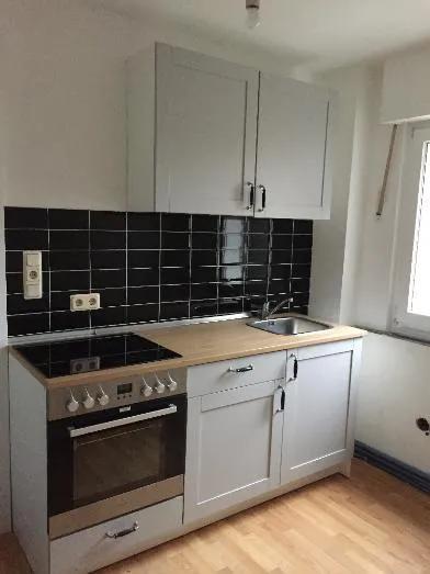 Knoxhult Ikea Küchenzeile in grau inklusive Einbauherd ...