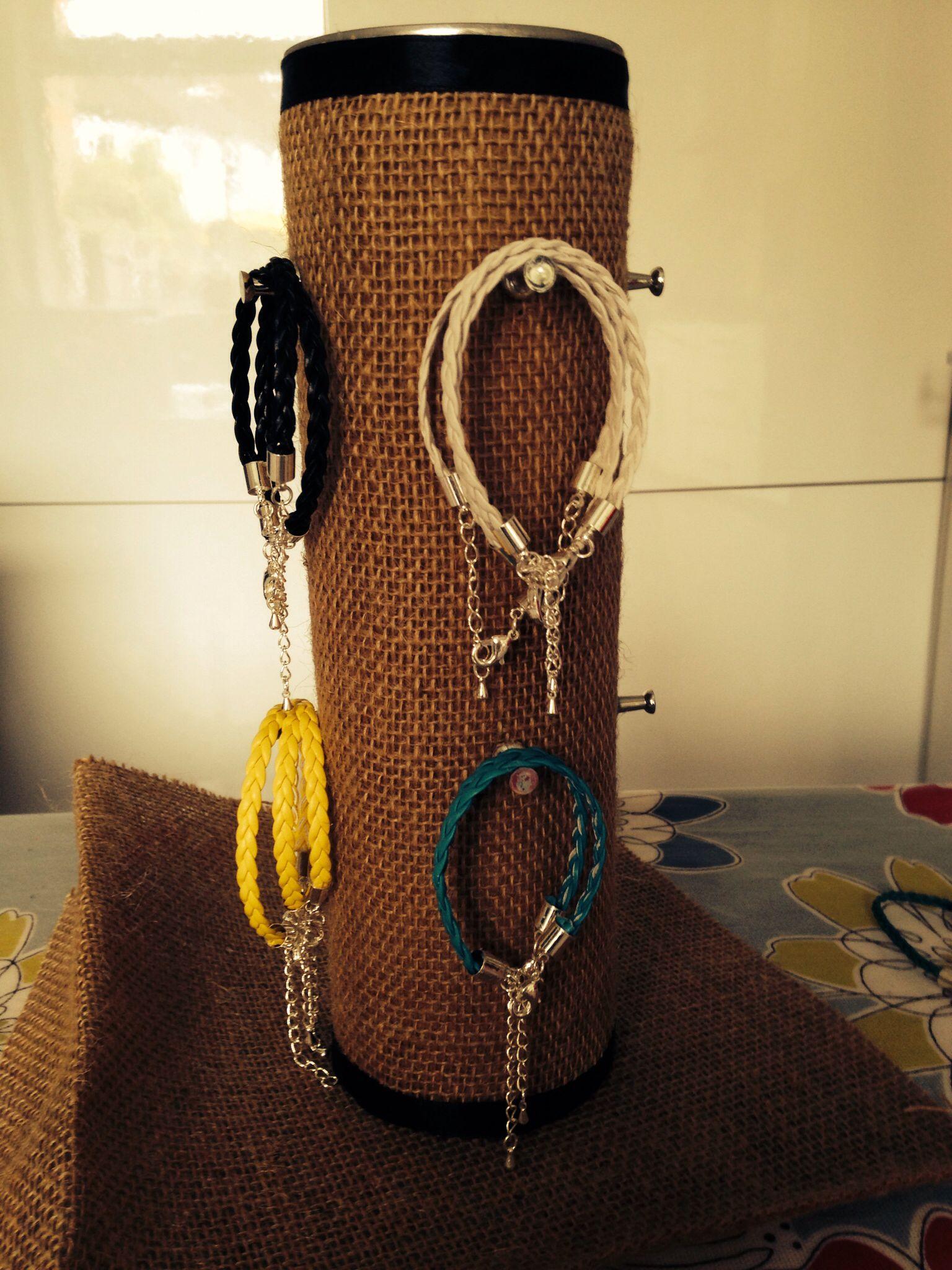 Bracelet holder diy pringles box school fair diy