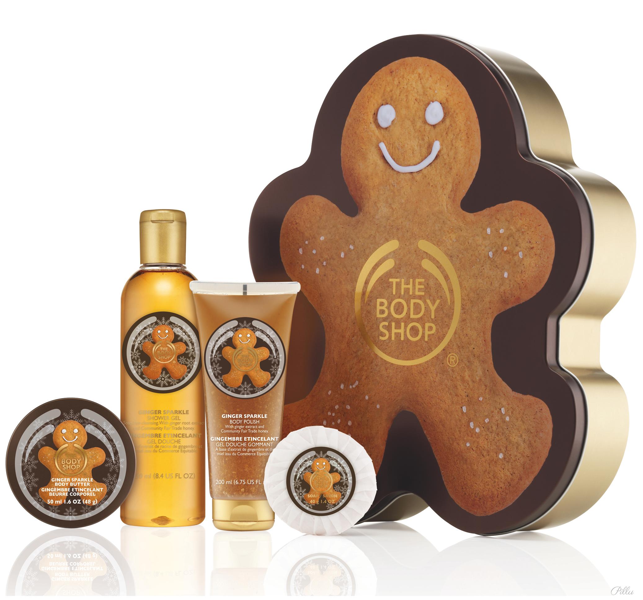 The Body Shop Christmas gingerbread range. I'm using it