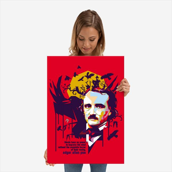 EDGAR ALLAN POE by ICAL SAID | metal posters - Displate #Vector #Design #Poster… | Displate thumbnail