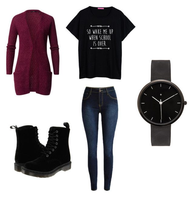 """Outfit 422"" by that-girl-j ❤ liked on Polyvore featuring Dr. Martens, I Love Ugly, women's clothing, women, female, woman, misses and juniors"
