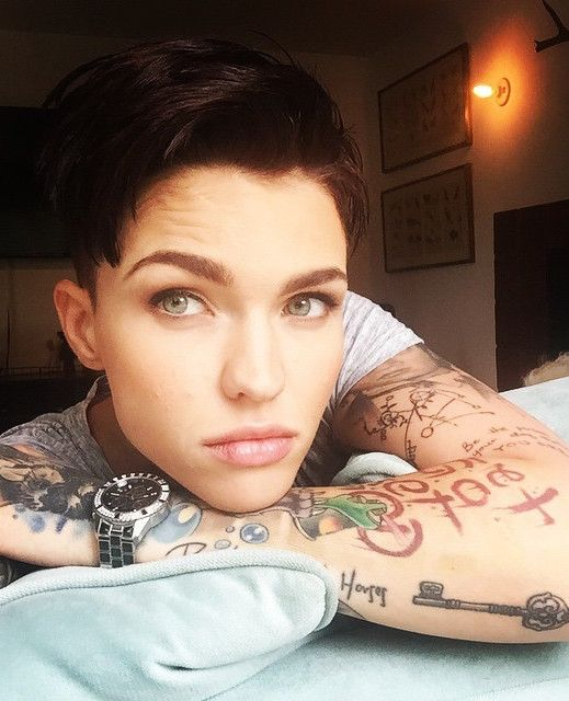 Her hair is close to what I want. Also, Ruby Rose rocks androgyny