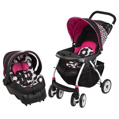 embrace 35 car seat. Evenflo Journey 300 Full Size Stroller With Embrace 35 LX Infant Car Seat - Pink/ C