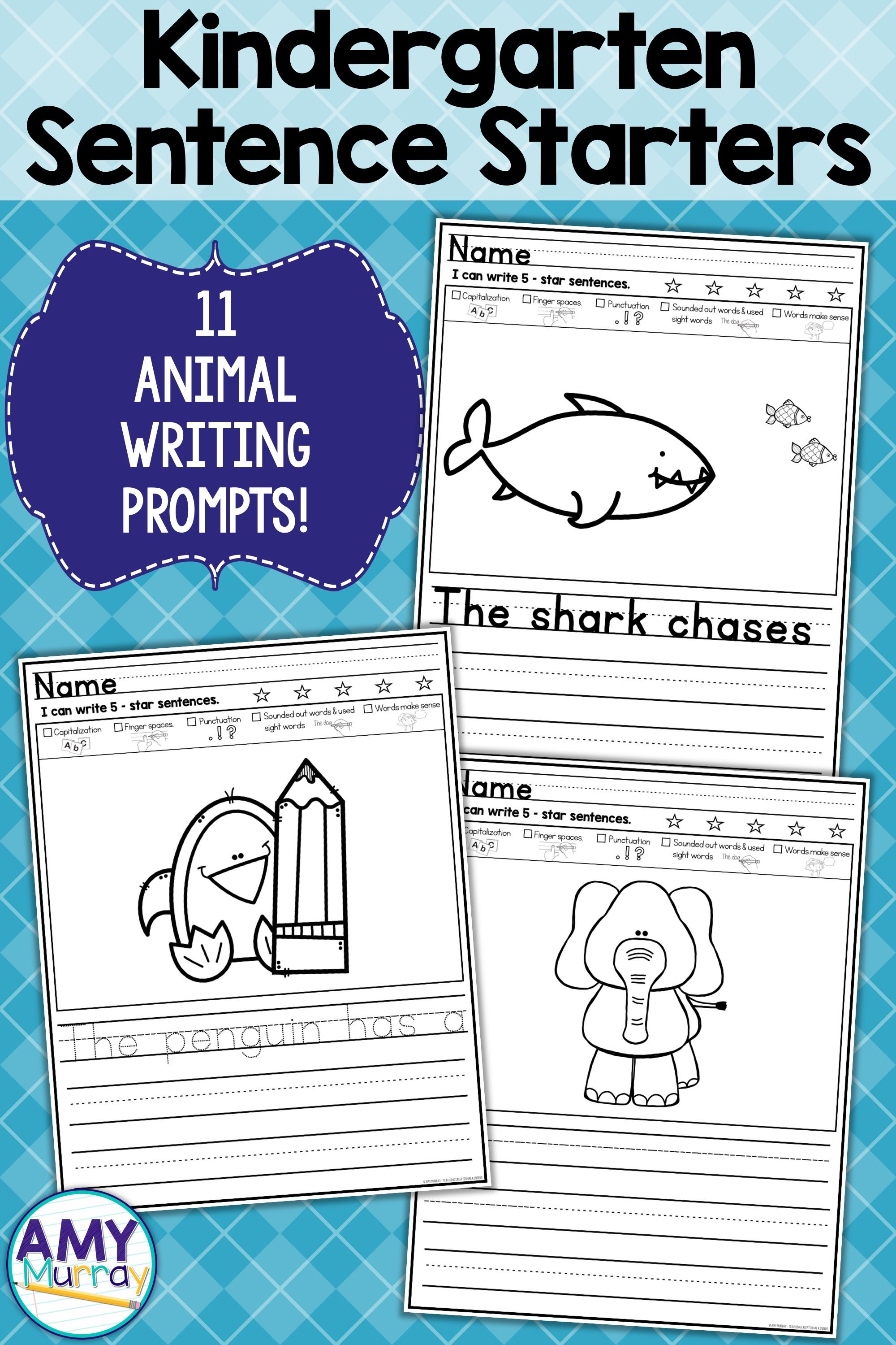 Animal Picture Writing Prompts And Sentence Starters