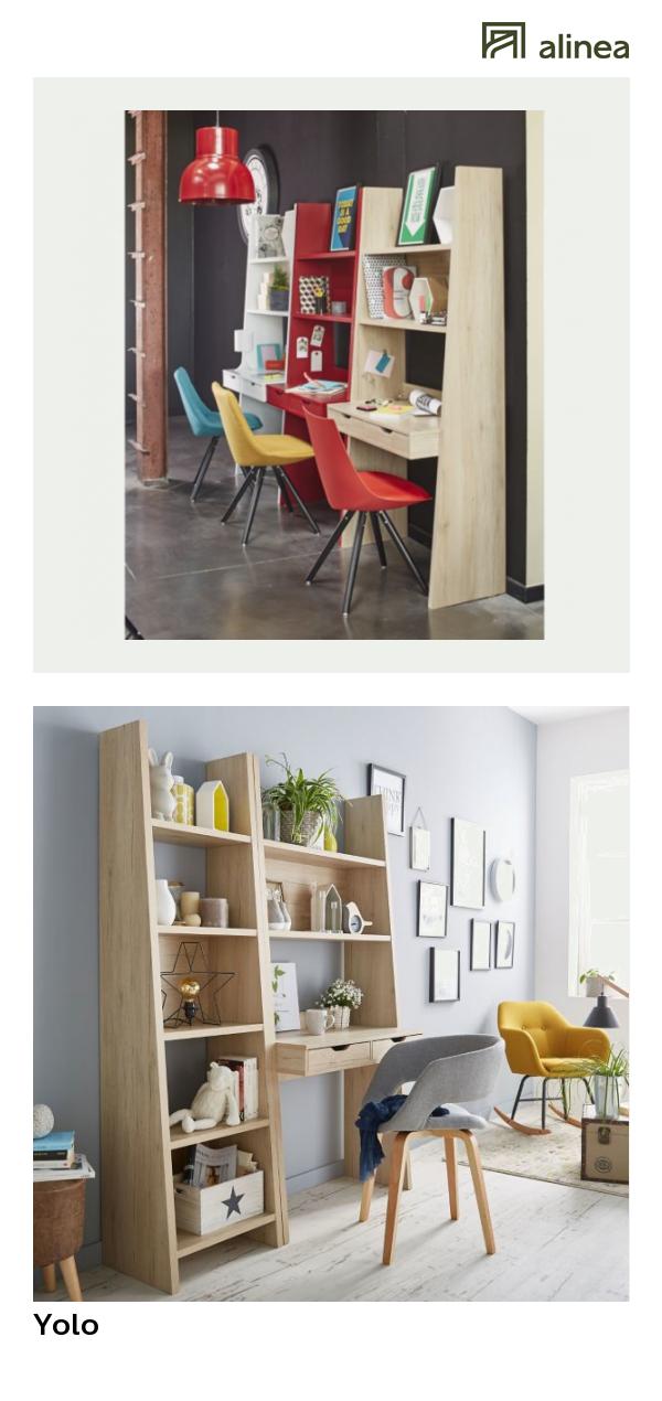 alinea yolo bureau etagere coloris