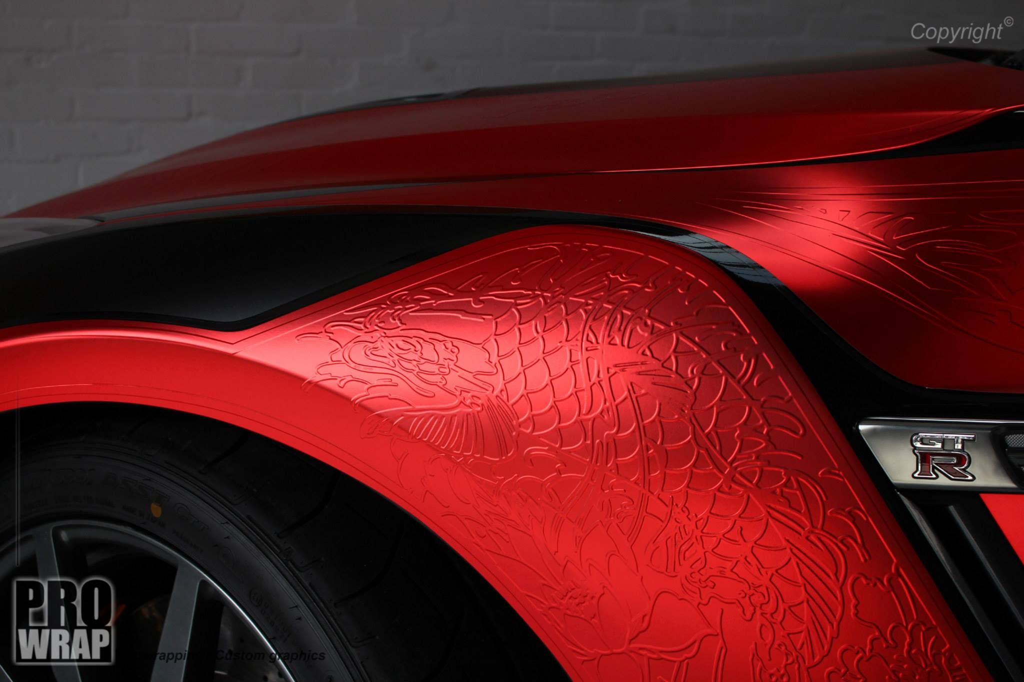 Design car wrap - Custom Carwrap Design Nissan Gt R With Japanse Striping Design