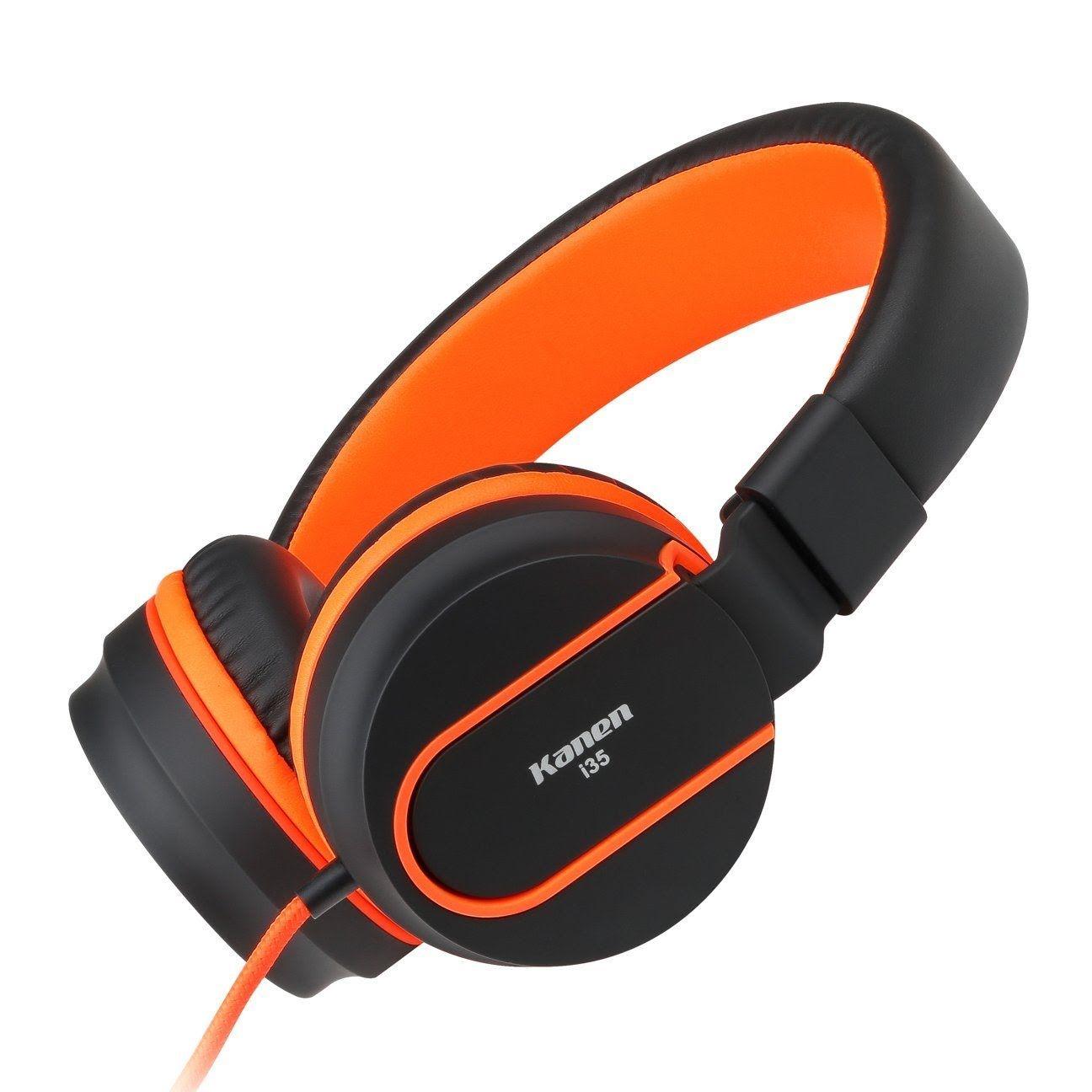 Orange earbuds kids - earbuds with microphone orange