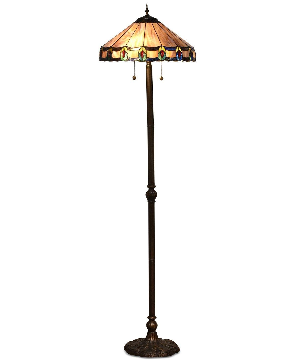 Dale Tiffany Townsville Glass Floor Lamp Reviews All Lighting Home Decor Macy S Glass Floor Floor Lamp Decor