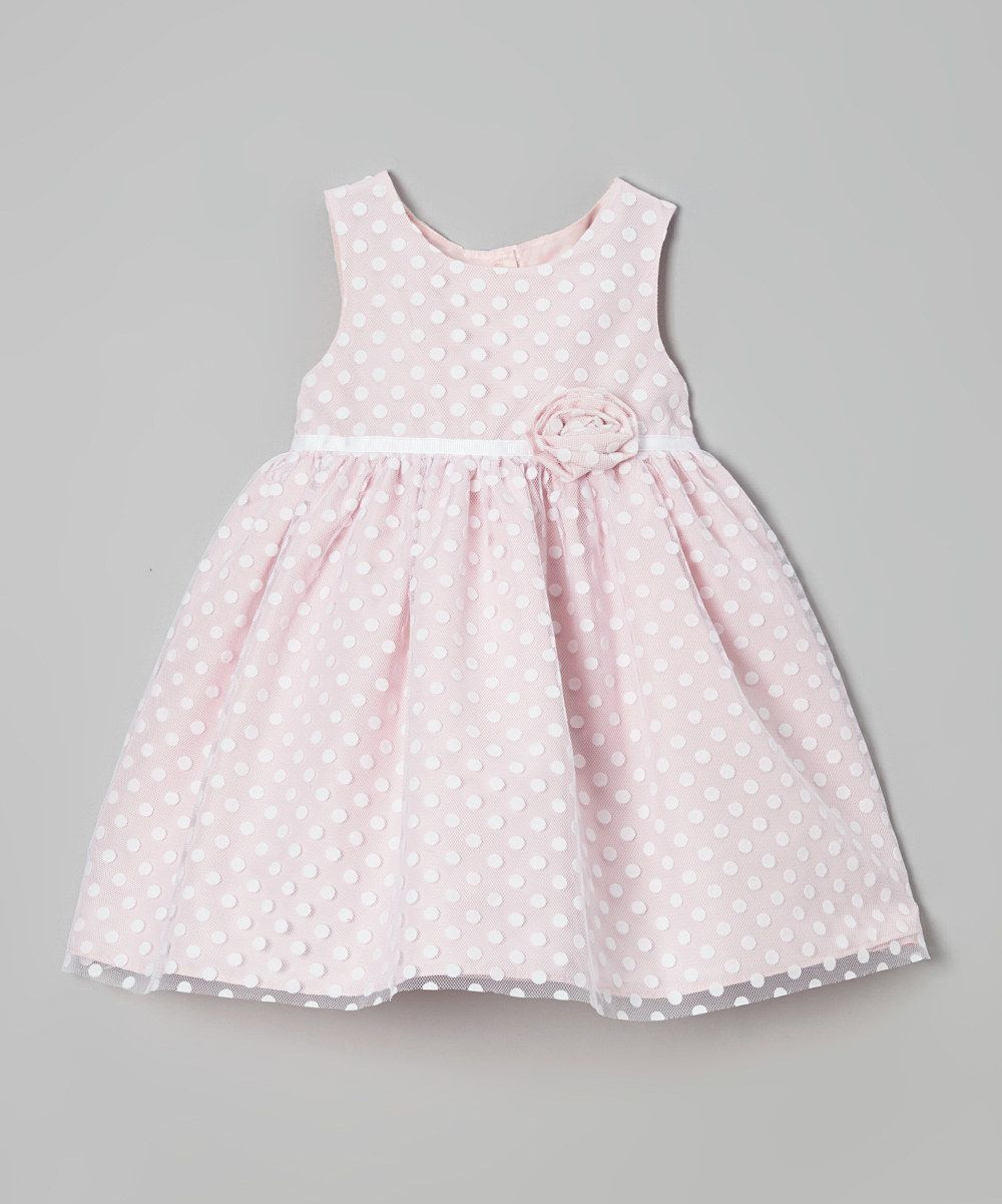 acf9a4b51f4c4 Pink Polka Dot Ruffle Flower Dress - Infant & Toddler by Marmellata #zulily  #zulilyfinds