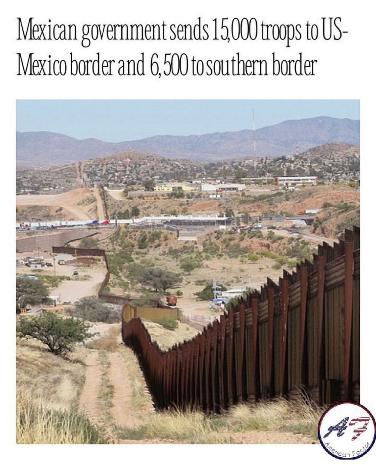 June 2019 Natural landmarks, Border, Mexico