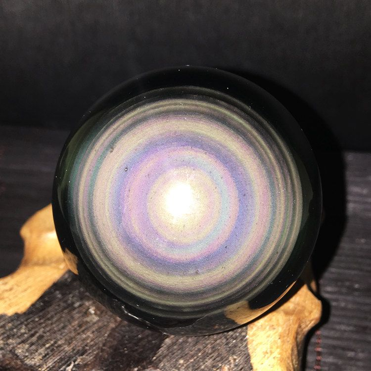 "2.2""Best Natural Double Rainbow Eyes Obsidian Sphere ..."
