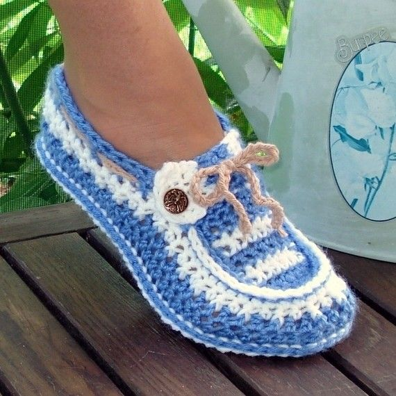 Instant Download - Crochet Pattern - Adult Button Loafers Slippers ...
