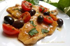Photo of Chicken breast with cherry tomatoes and olives