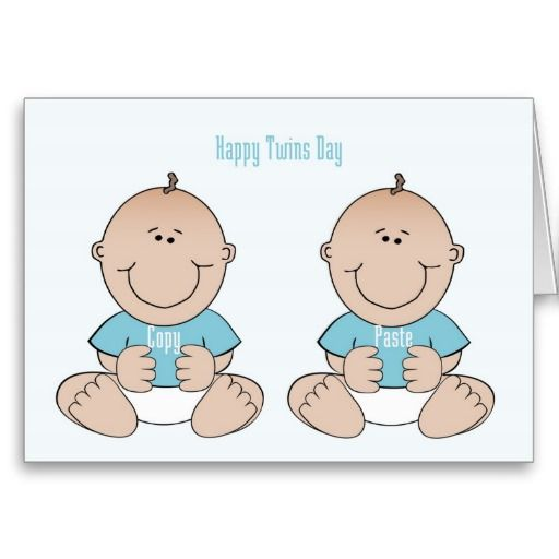Happy Twins Day Boys Card Pinterest Twins And Birthdays