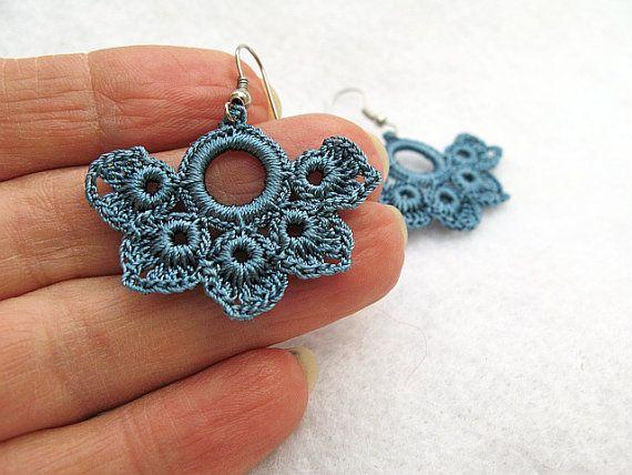 PDF Tutorial Crochet Pattern...Beautiful Dangle Earrings -1 | Patrón ...