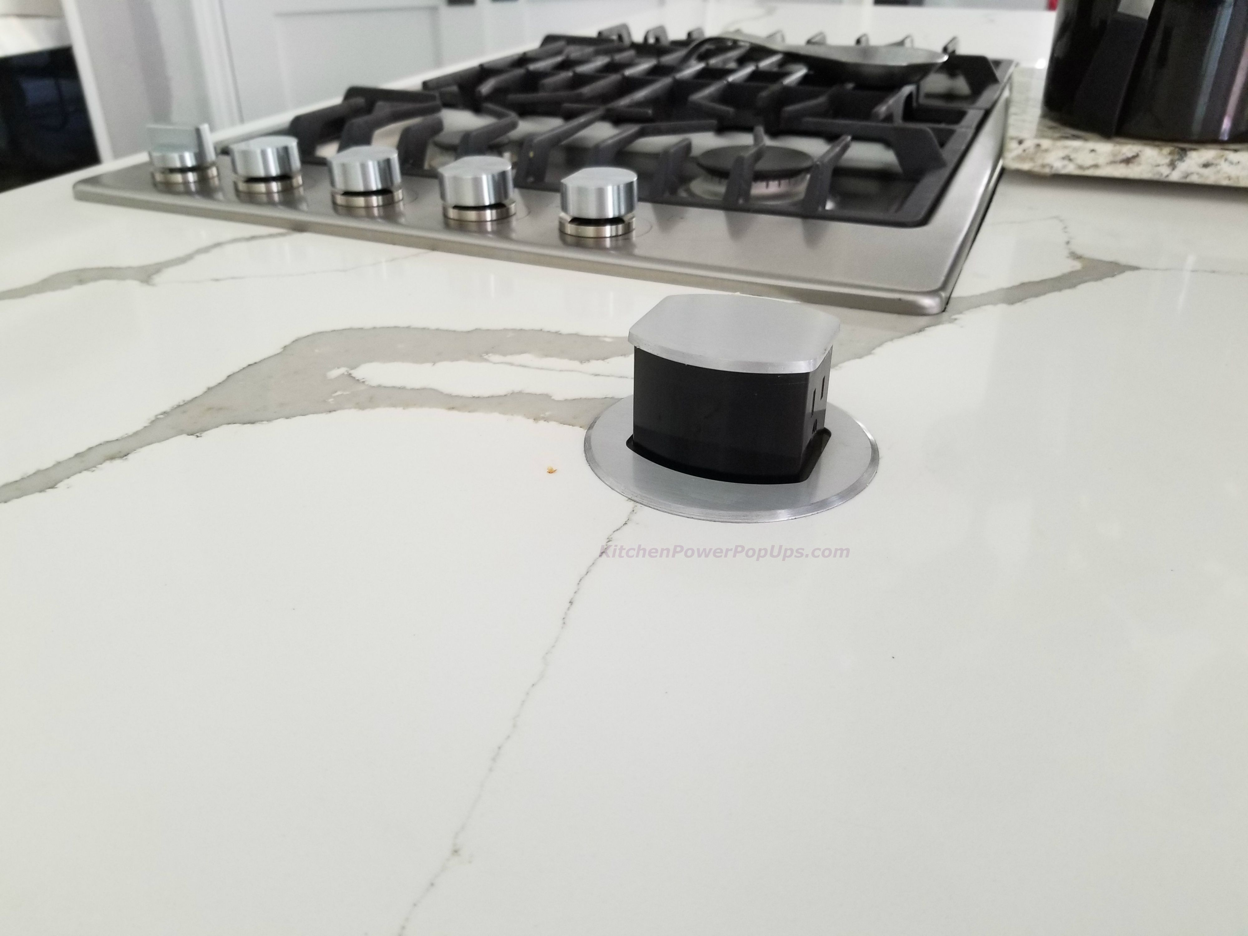 Countertop 2 Sided Spill Proof Pop Up 15a Outlet Surface Mount Aluminum Kitchen Outlets Pop Up Outlets Countertops
