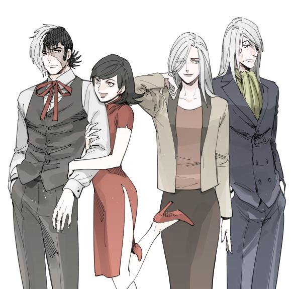 Black Jack, Shoren Hazama, Yuri , and Dr. Kiriko Black