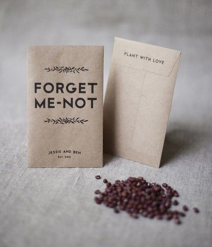 Forget Me Not Flower Seed Wedding Favours So Every Time The Guest See S Flowers