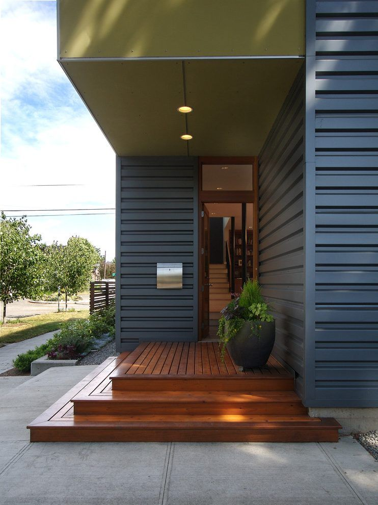 Best Amazing Wood Steps Entry Modern With Recessed Lighting 400 x 300