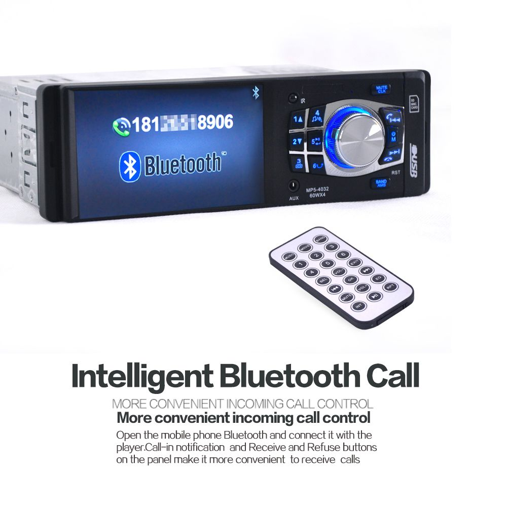 NEW 4.1 Inch 12V Car Stereo FM Radio MP3 MP4 MP5  Audio Player Support Bluetooth USB/TF Card Car Electronics In-Dash